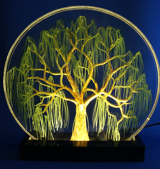 7 inch hand carved Green willow tree