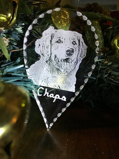 Your dog photo  ornament