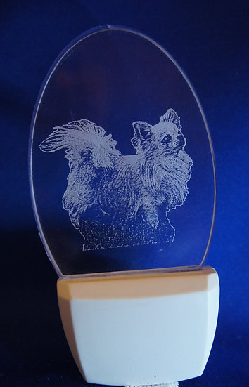 Longhaired Chihuahua Night Light