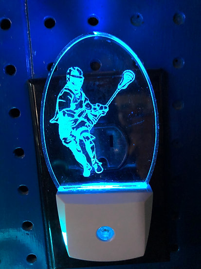Lacrosse Male player Night Light