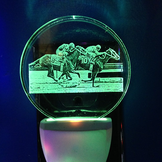 Horse racers night light