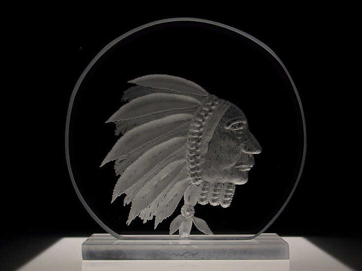 Indian Head hand carved
