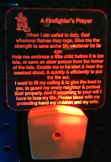 Fireman's prayer night light