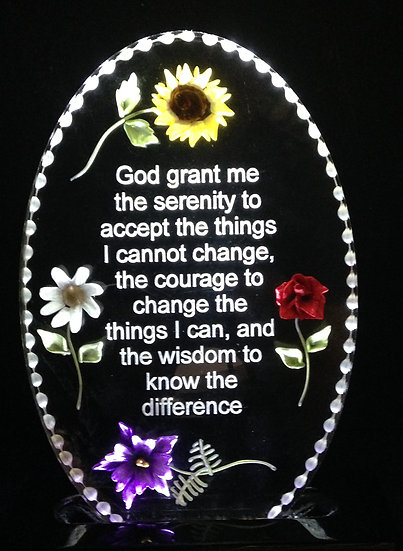 Serenity Prayer etched