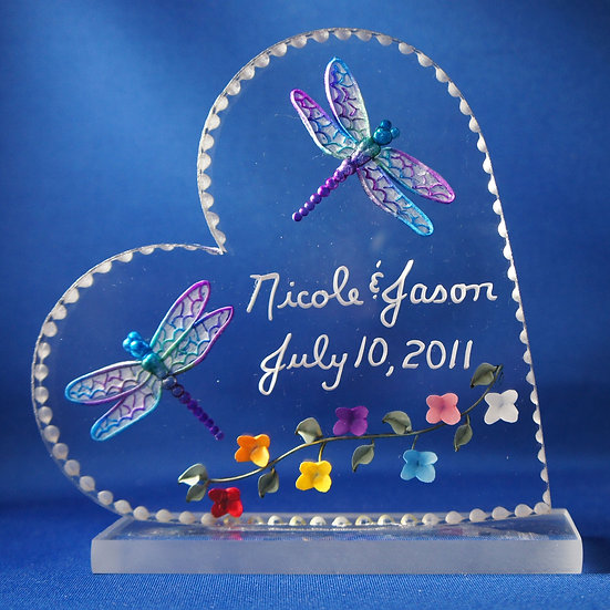 wedding gift cake topper dragonflies