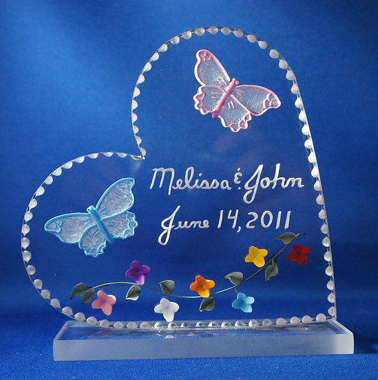 wedding gift cake topper butterflies