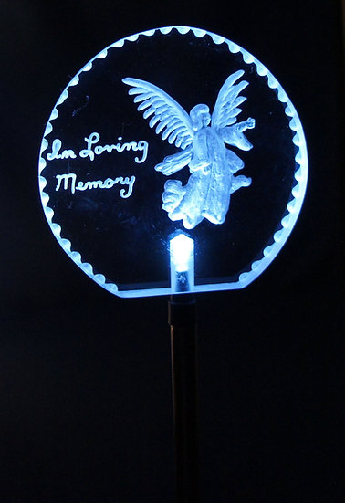Solar lighted Stake most any design