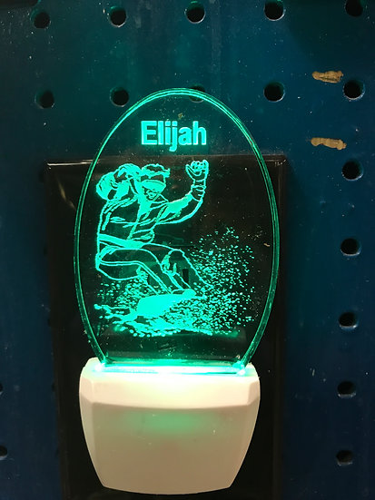 Snowboarder Male player Night Light