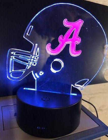 Helmet with your team logo on battery light