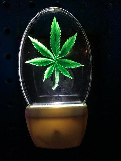Marijuana leaf night light