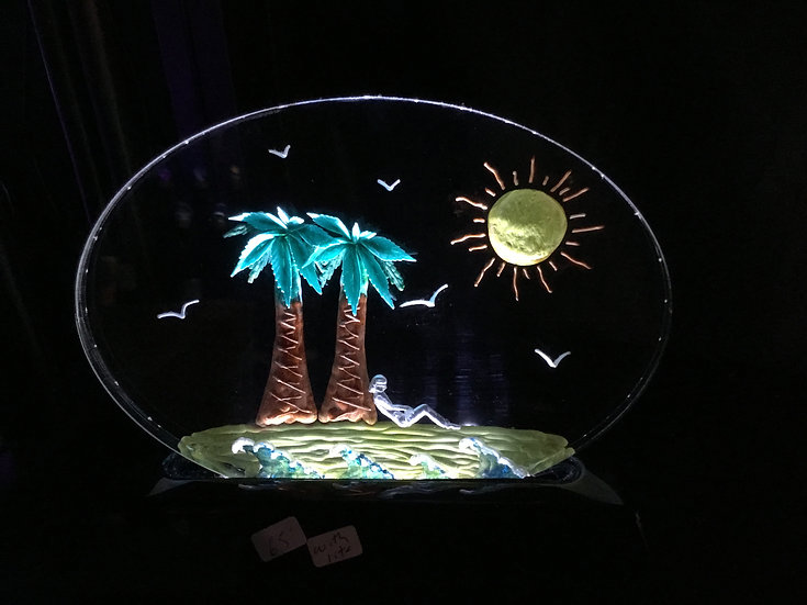 Palm Trees scene