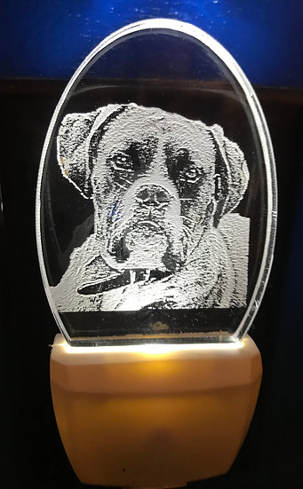 Boxer Dog Night Light