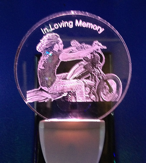 Your memories of that special loved one Photo etched