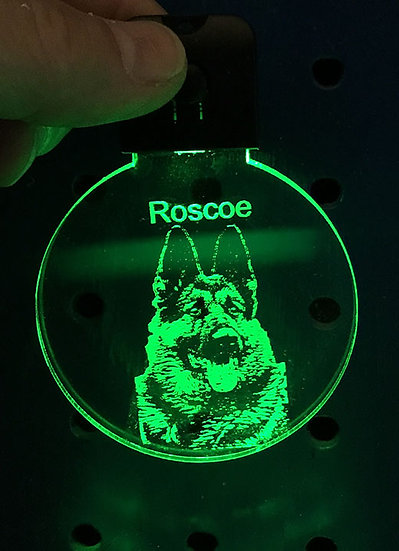 NEW LIGHTED KEYCHAIN any dog breed available