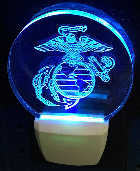 Marine logo night light