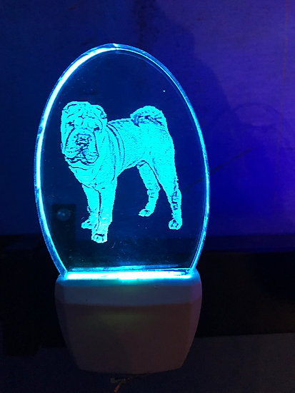 Shar Pei Night Light