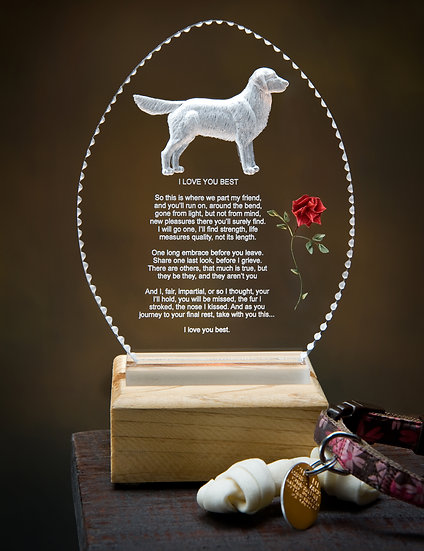 Hand Carved dog ( any breed) memorial