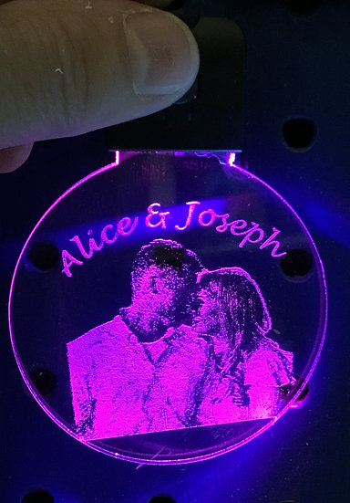 CUSTOM PHOTO LIGHTED KEYCHAIN from YOUR PHOTO