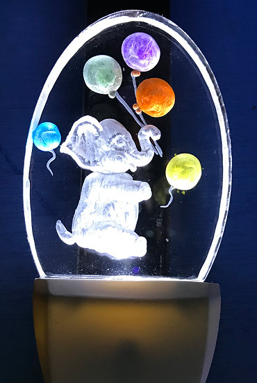 Elephant with balloons Night Light