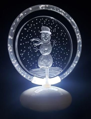 Snowman illuminated Halo