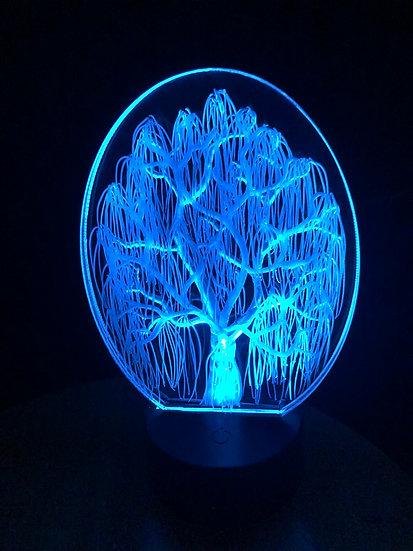 White willow on battery light
