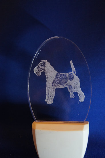 Wire fox Terrier Cropped Night Light