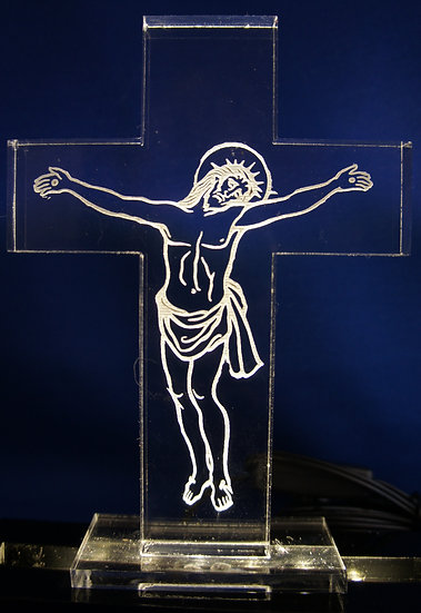 Jesus on the cross Night Light