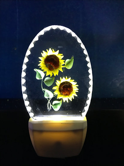 Sunflowers night light