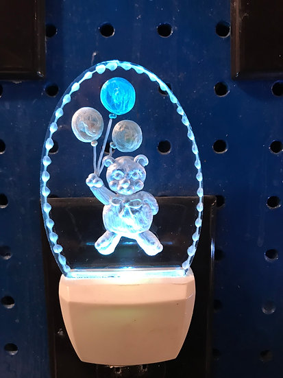 Teddy Bear with balloons night light