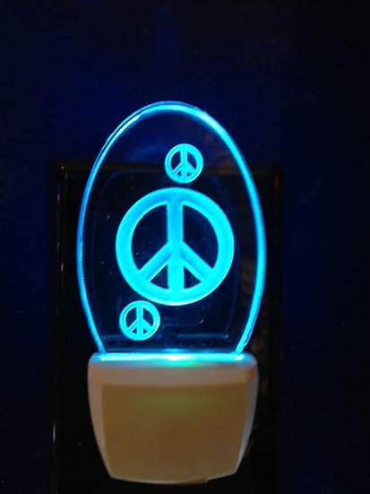peace signs night light