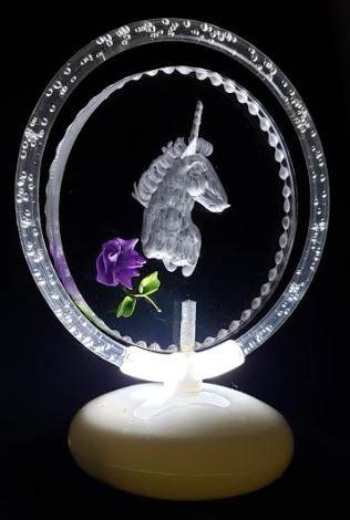 Unicorn halo illuminated