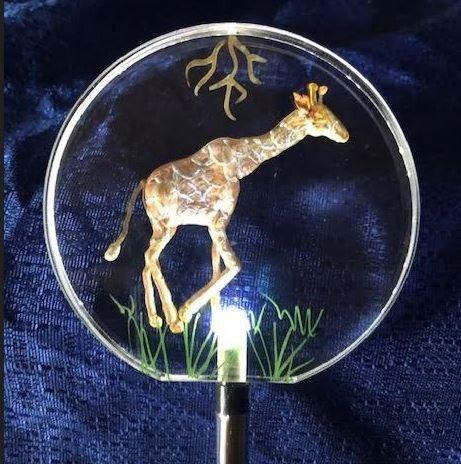 Giraffe Lighted solar stake