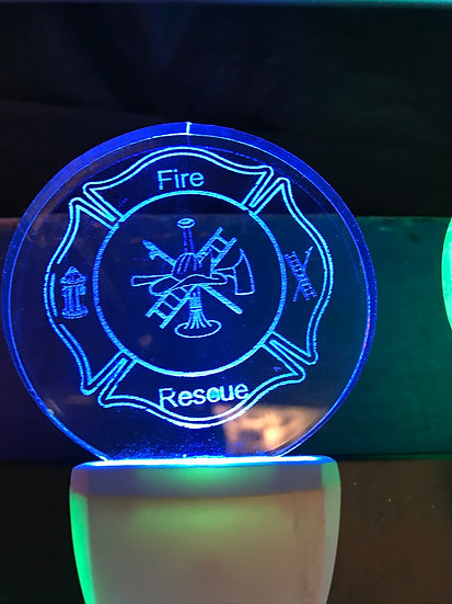 Fire Fighters logo Night Light