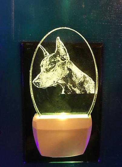 Doberman Pinscher cropped earsNight Light