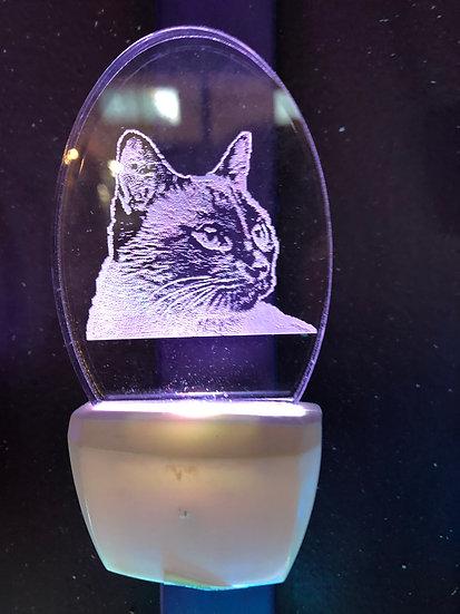 Siamese Cat head Night Light
