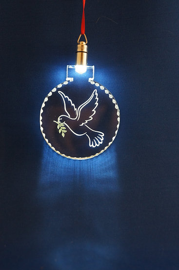 LIGHTED ORNAMENT -Dove