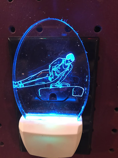 Gymnastic Male player Night Light