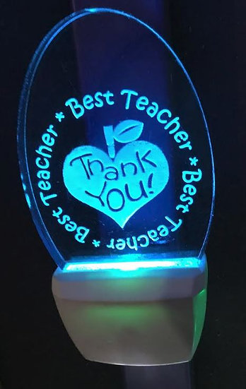 Teacher Appreciation night light