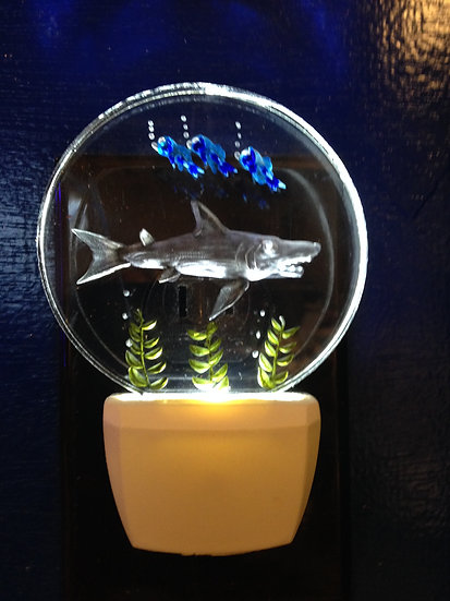 Shark scene night light