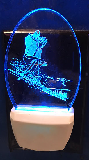 Skier night light
