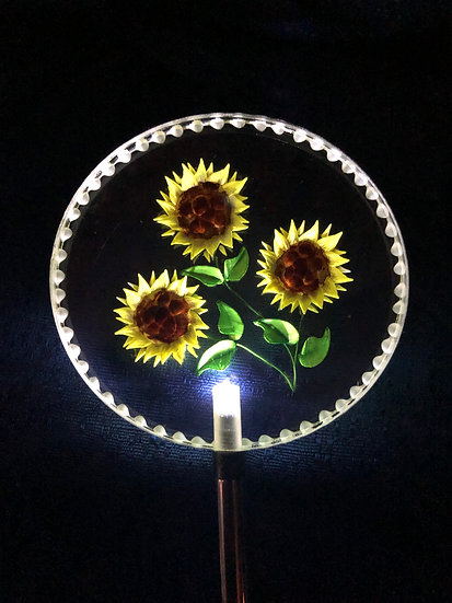 Sunflower Lighted Solar Stake
