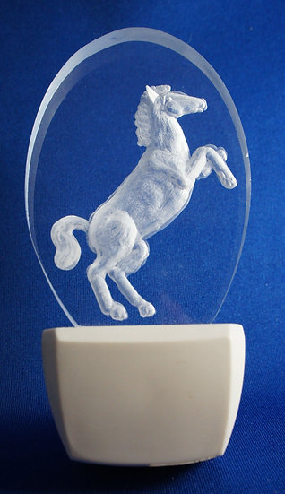 rearing horse night light
