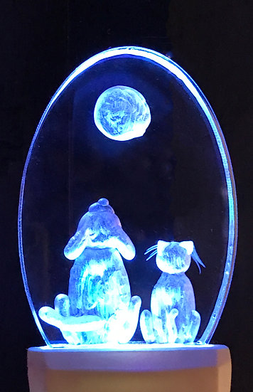 Cat and dog night light