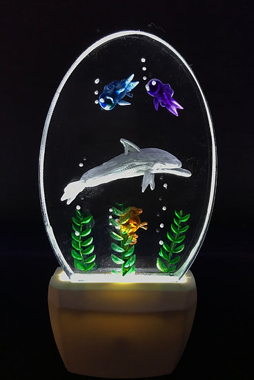 Dolphin scene night light