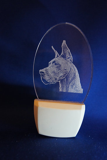 Great Dane Cropped Ears Night Light
