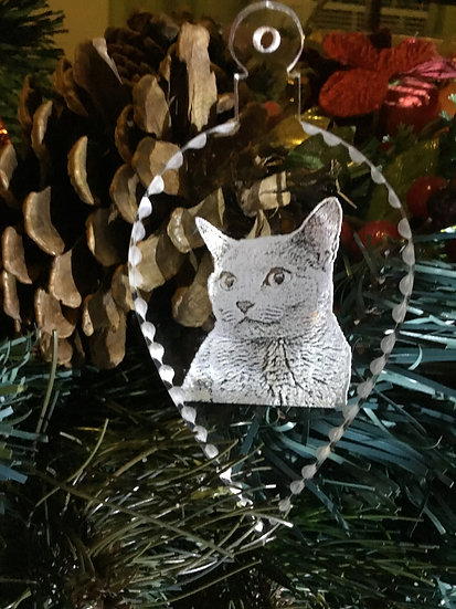 Your cat photo  ornament