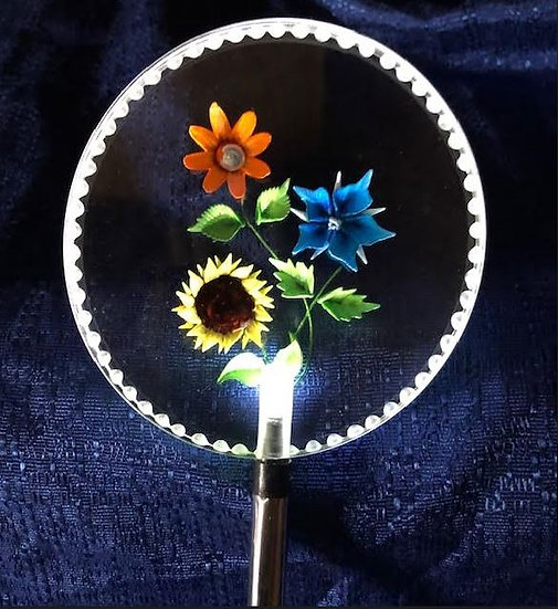 Bouquet of flowers Lighted solar stake order any flower you like
