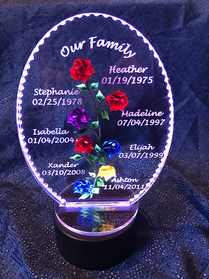 Engraved Mothers Day Bouquet of flowers- 7 Rose