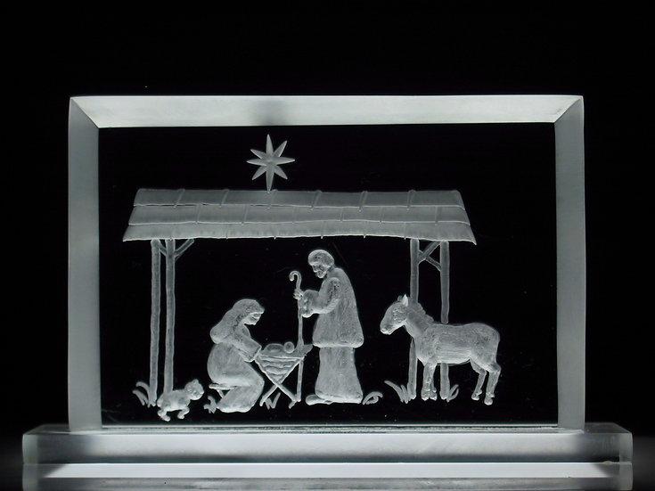 manger scene hand carved