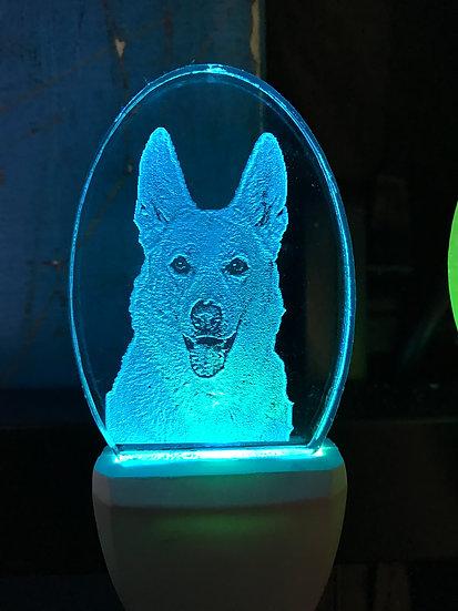 German Shepherd head Night Light